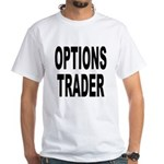Options Trader White T-Shirt