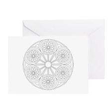 Portal Mandala Coloring Greeting Card