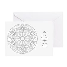 Portal Mandala Coloring Greeting Card w/Msg