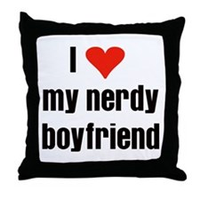 Nerdy Boyfriend Throw Pillow