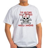 The beatings will continue un Ash Grey T-Shirt