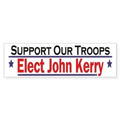 Support Our Troops: Elect Kerry (sticker)