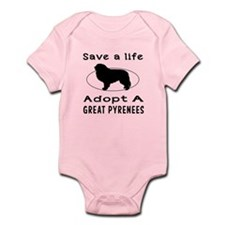 Adopt A Great Pyrenees Dog Infant Bodysuit