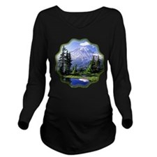 Mt Raineer National Park Long Sleeve Maternity T-S
