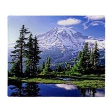 Mt Raineer National Park Throw Blanket