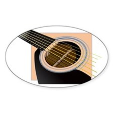 Accoustic Oval Decal