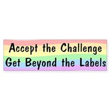 Accept The Challenge v2 Bumper Sticker