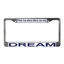 Cool Airplane flight License Plate Frame