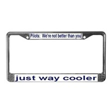 Cute Aviation License Plate Frame