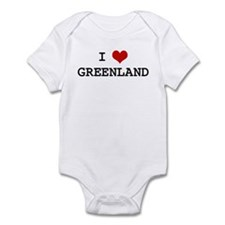 I Heart GREENLAND Infant Bodysuit
