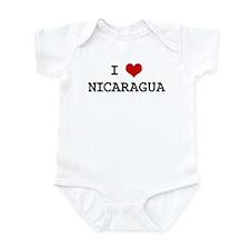 I Heart NICARAGUA Infant Bodysuit