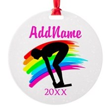 NUMBER 1 SWIMMER Ornament