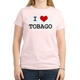 I Heart TOBAGO Women's Pink T-Shirt