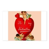 Victorian Valentine Heart Postcards (Package of 8)