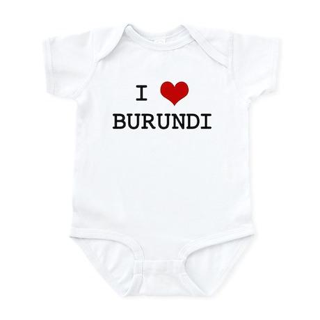 I Heart BURUNDI Infant Bodysuit