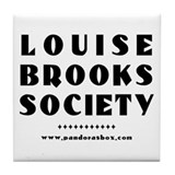 Unique Louise brooks society Tile Coaster