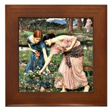 Waterhouse: Gather Ye Rosebuds While Y Framed Tile