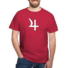 Jupiter Symbol Maroon Red T-Shirt