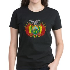 Bolivia Coat Of Arms Women's Dark T-Shirt