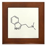 DMT Chemical Structure Framed Tile
