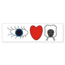 I Love Ewe Bumper Bumper Sticker