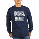 Mechanical Engineer (Front) Long Sleeve Dark T-Shi