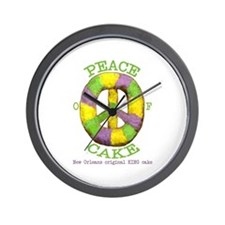 Peace of 'King' cake Wall Clock