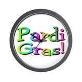 Pardi Gras Wall Clock