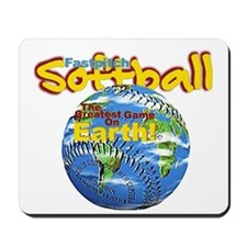 Softball Earth Mousepad