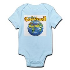 Softball Earth Infant Bodysuit