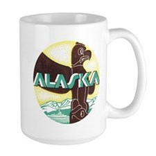 Alaska, Old time postcard Totem Mugs