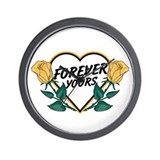 Forever Yours Y Roses Wall Clock