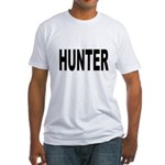 Hunter (Front) Fitted T-Shirt