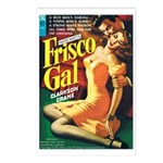 Postcards (pkg. 8) - 'Frisco Gal'