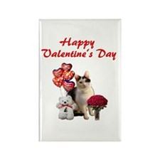 Valentine Cat Rectangle Magnet (10 pack)