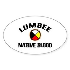 Lumbee Native Blood Oval Decal