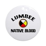 Lumbee Native Blood Ornament (Round)