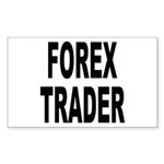Forex Trader Rectangle Sticker