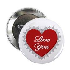 Red Love You Button