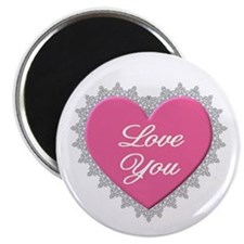 Pink Love You Magnet