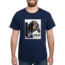 Bluetick Coonhound Love T-Shirt