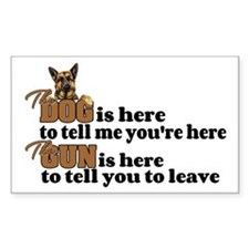 Gun and Dog Decal