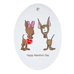 Chihuahua Valentine Oval Ornament