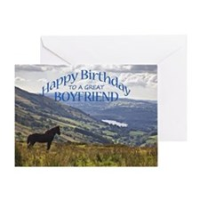 For boyfriend, birthday card with horse Greeting C