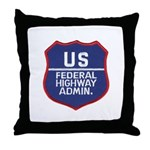 Highway Administration Throw Pillow