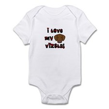I Love my Vizsla Baby Bodysuit (Cartoon)