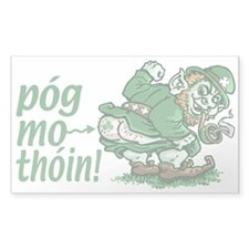 Pog Mo Thoin Irish Rectangle Decal