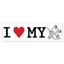 I Love My Goalie (hockey) Bumper Bumper Stickers