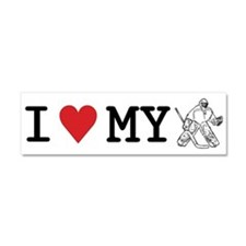 I Love My Goalie (hockey) Car Magnet 10 x 3