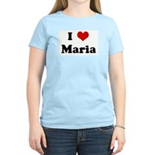 I Love Maria Women's Pink T-Shirt